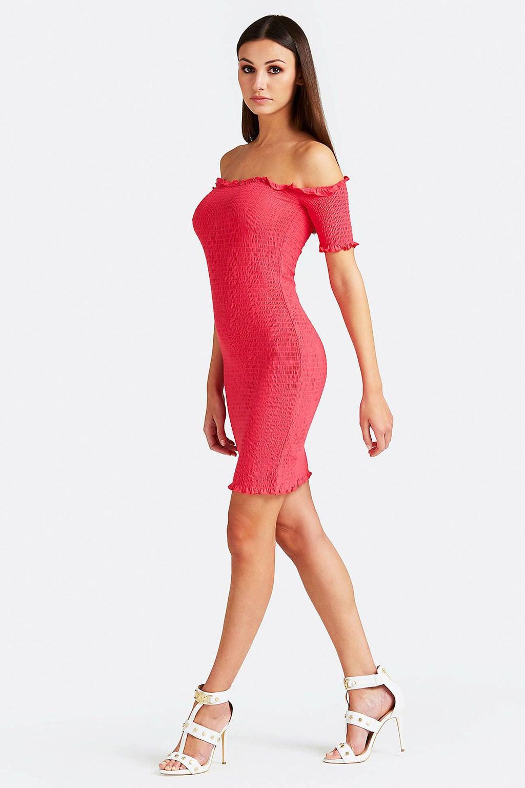 dd9ed13b4195f5 Guess martina jurk fuchsia koop je online bij…