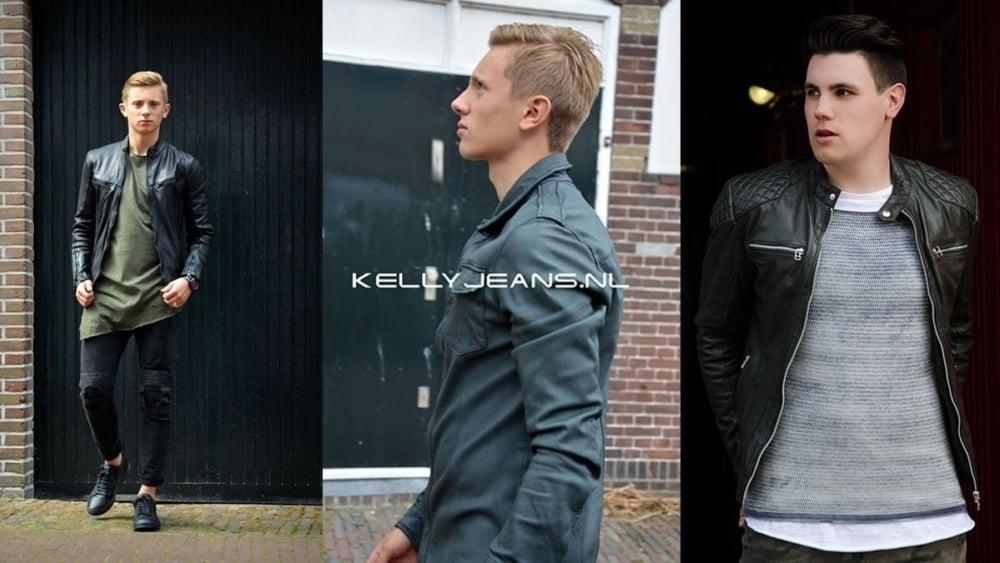 Leather biker jackets voor komend najaar.