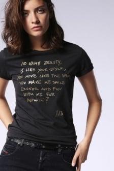 Diesel t-sily-l t-shirt black