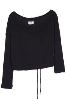 Sixth june off shoulder ribbed sweater black