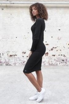 Sixth june side lacing dress black