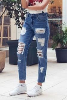 Sixth june mummy jeans destroy blue