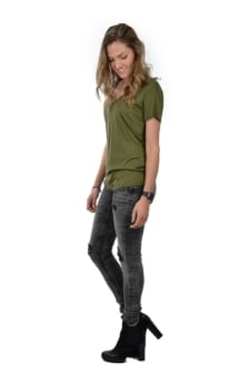 Alix v-neck t-shirt green