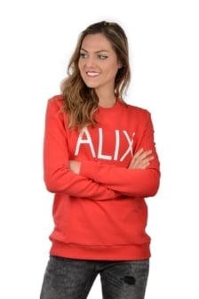 Alix sweater intense coral