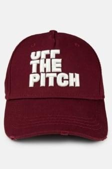 Off the pitch trucker cap burgundy
