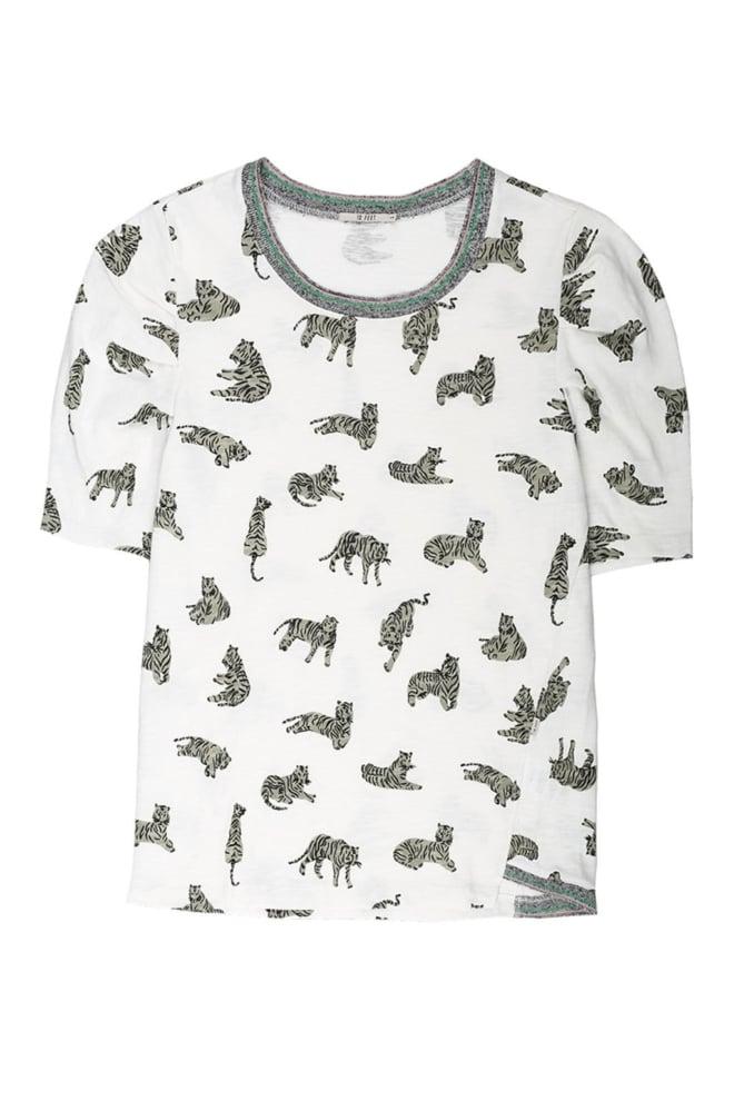 10feet t-shirt met tijger print off white - 10 Feet