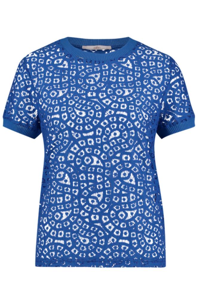 Aaiko fleuron solid co shirt blauw - Aaiko