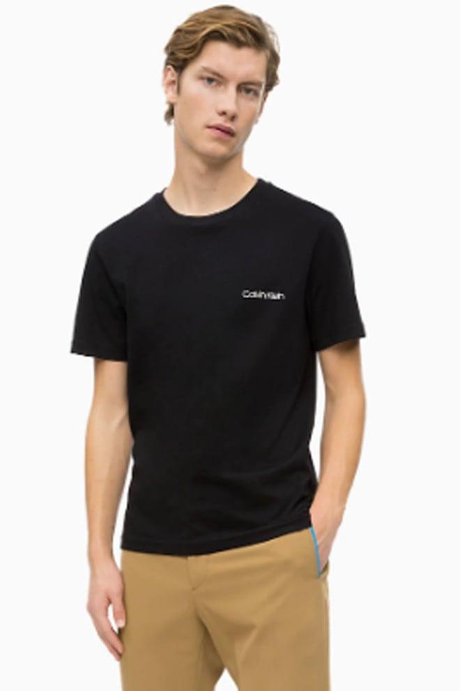 Calvin klein chest logo shirt zwart - Calvin Klein