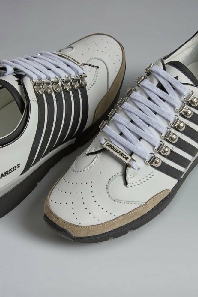 Dsquared 251 sneakers bianco nero - Dsquared