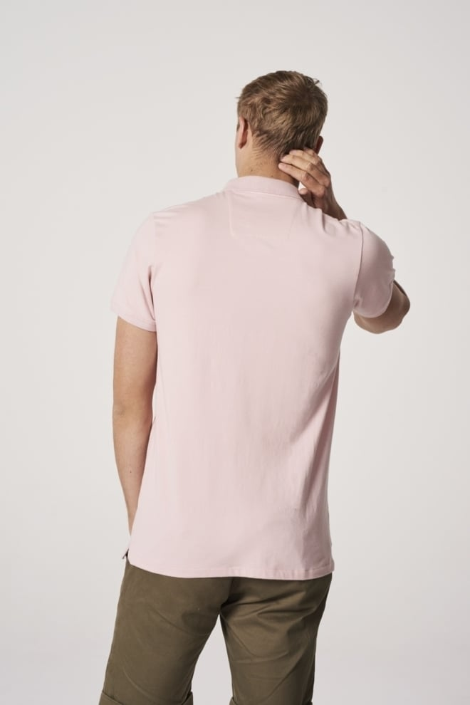 Dstrezzed honeycomb stretch jersey polo roze - Dstrezzed