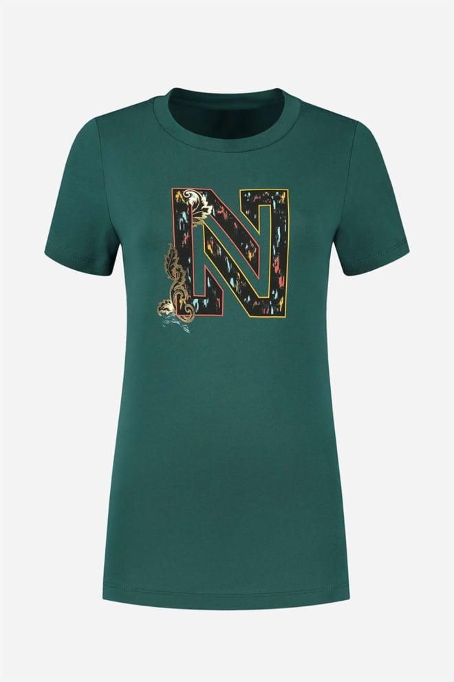 Nikkie t-shirt ikat logo - Nikkie