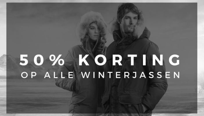50% korting op alle winterjassen!