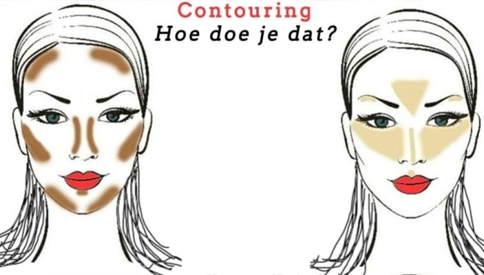 Contouring of Face Shaping met Make-up