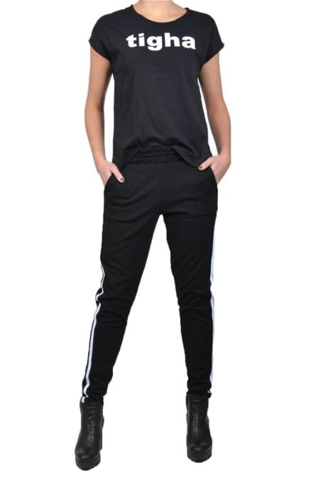 Tigha logo t-shirt black
