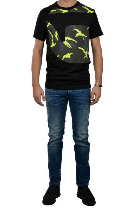 G-star raw groatz t-shirt black yellow