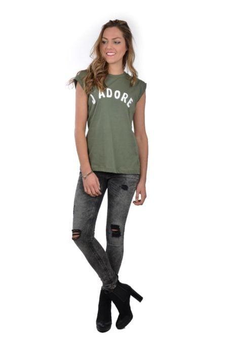 Catwalk junkie j adore shirt avocado