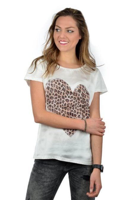 Catwalk junkie shirt heart of wild off-white