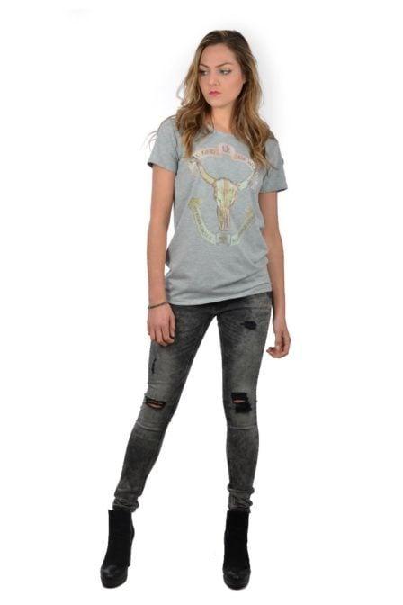 Alix washed bull t-shirt light grey