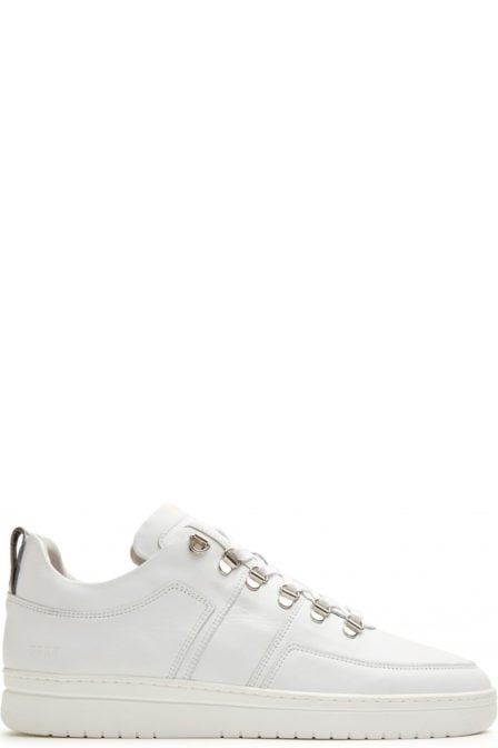 Nubikk yeye maze wit leer sneakers