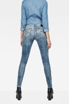 G-star raw midge zip mid-waist skinny