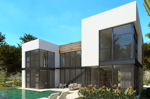 New project for an excellent villa with roof terrace and pool in Old Bendinat