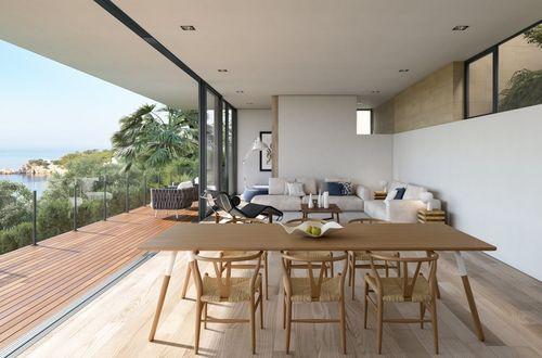 Helt ny tidsenlig modern villa med panoramavy över Palmabukten