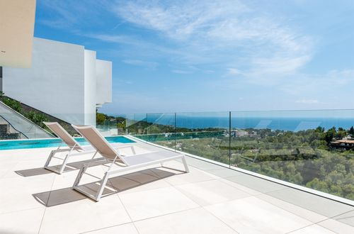 Designer villa on a hillside with incomparable panoramic sea views