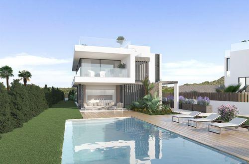 New construction project - contemporary designer villa with sea views