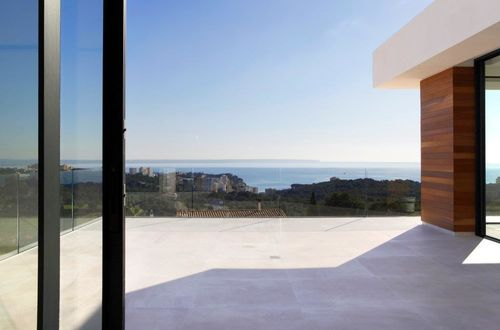 Minimalistic designer villa with spectacular sea views