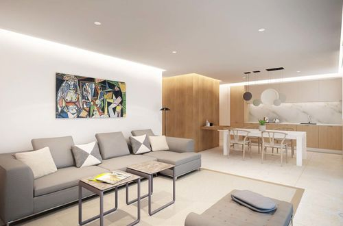 Attractive garden apartment in a new built residence