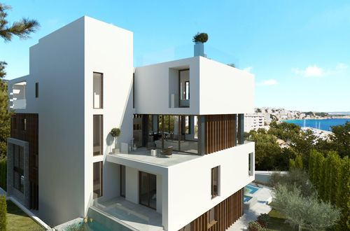 New construction - modern duplex apartment with fantastic sea views