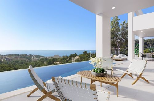 New luxury villa with sensational view to the Mediterranean Sea in Costa den Blanes