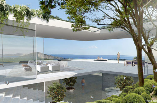Magnifik nybyggd lyxfastighet på Ibiza med vidsträckt utsikt över halvön Porroig och Formentera