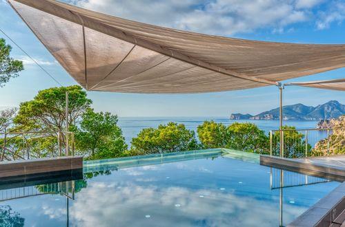 Spacious design villa with spectacular sea views