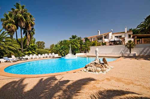 Modern villa with tastefully landscaped garden