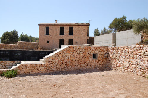 Beautiful stone facade house under construction