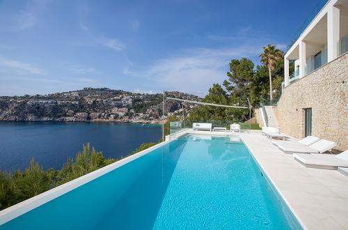 Cliff top villa with private sea access in Port Andratx