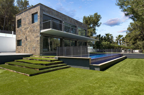 Modern villa with landscaped garden