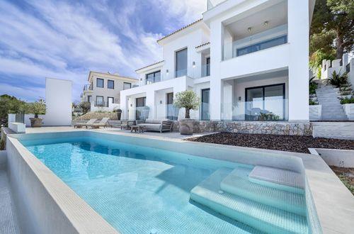 Bright flooded villa with panoramic views of Santa Ponsa bay