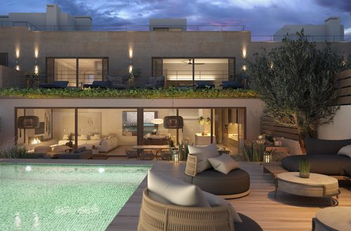 New top class townhouse with views of Palma bay