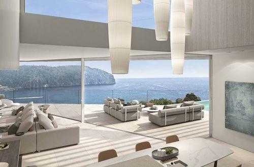 Contemporary masterpiece with panoramic sea views