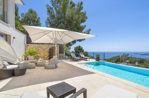 Fully furnished villa with sea views in the best location in costa den Blanes
