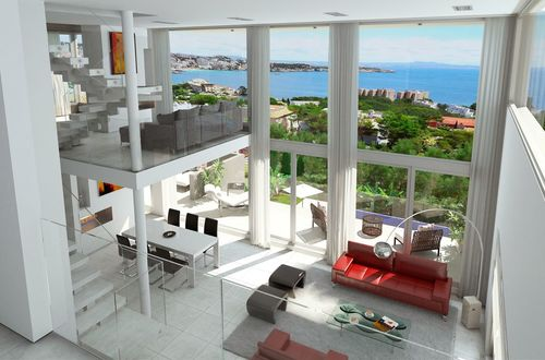 Exclusive newly built penthouse with breathtaking sea view
