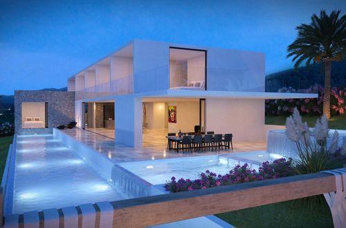 Elegant havsutsikt bostad med fantastisk utsikt över Ibiza stad och havet