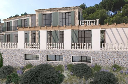 This villa is going to be one of a kind just in front of the sea in Andratx