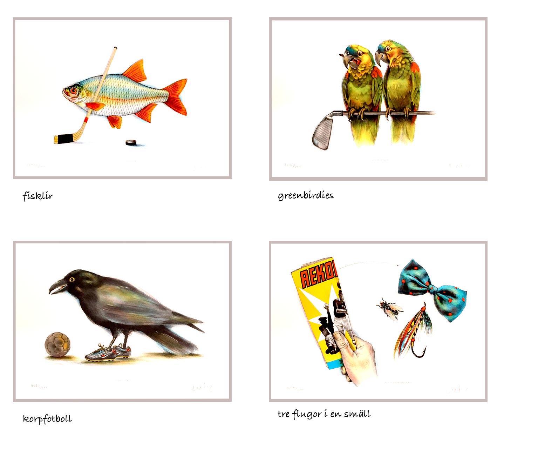 Litografier av Lasse Åberg