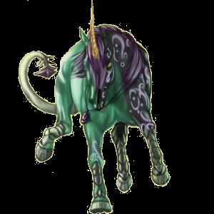 Верховой единорог Голштинская лошадь Огненно-гнедой