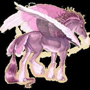 Верховой Пегас Ахалтекинская Вороная
