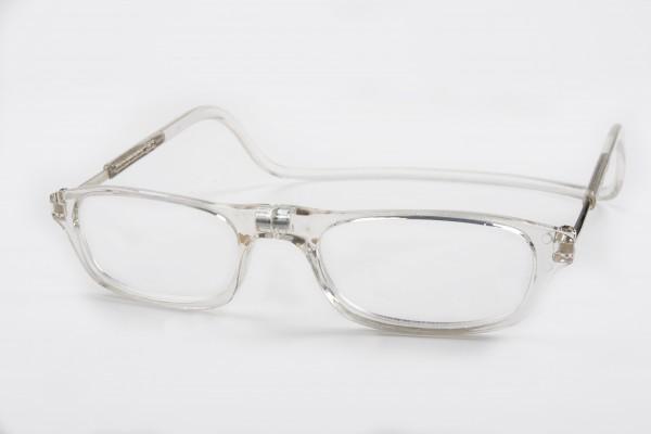 magneet leesbril classic transparant. klikbril met magneetsluiting. magneetbril