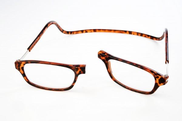 magneet leesbril classic turtle. klikbril met magneetsluiting.